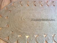 Long Runner rug, Jute runner rug, Hallway Rug 7 foot rug, Twine Crochet rug,  no.018