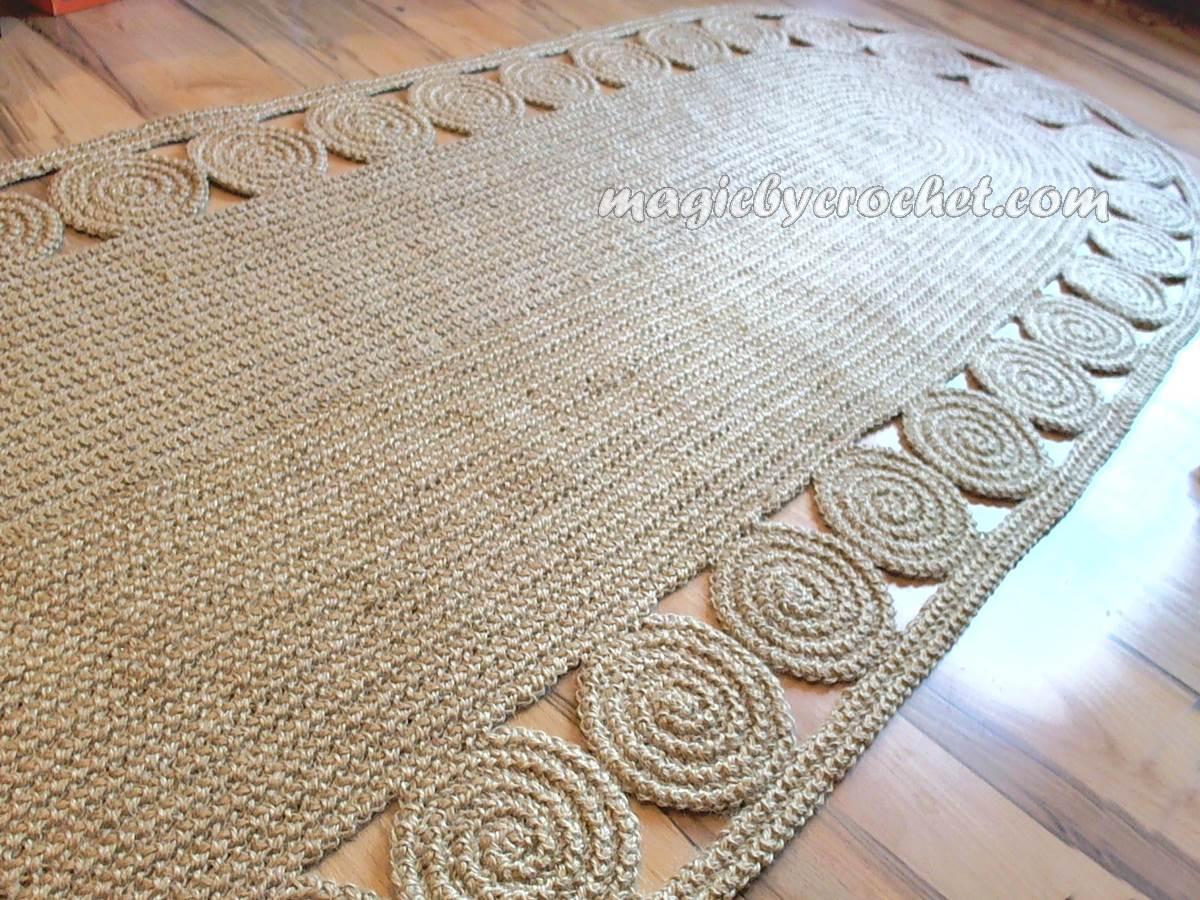 hallway rug 9 foot rug twine crochet rug long runner rug jute runner