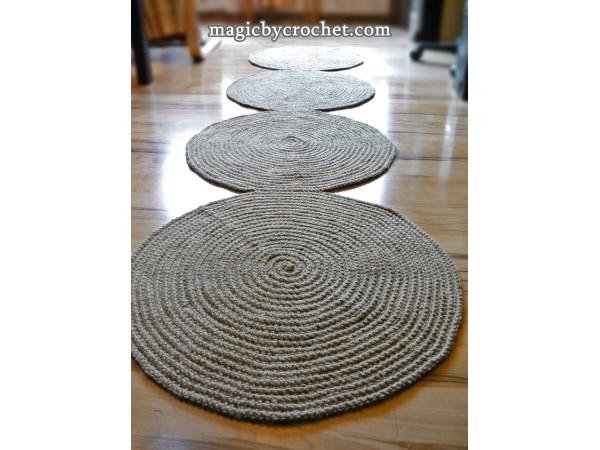Hallway Rug 8 ft rug, Jute rug, Long Runner rug, Jute runner rug, no.037