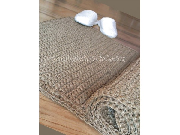 Natural Hallway RunnerRug, Rug 7x2 foot Handmade, Natural Jute Fibers Rug, no.009