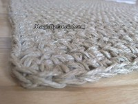 Natural rug, Fiber Rug, Crochet rug Jute Rug, Throw rug, Scandinavian home decor 120 x 90 cm, no.022