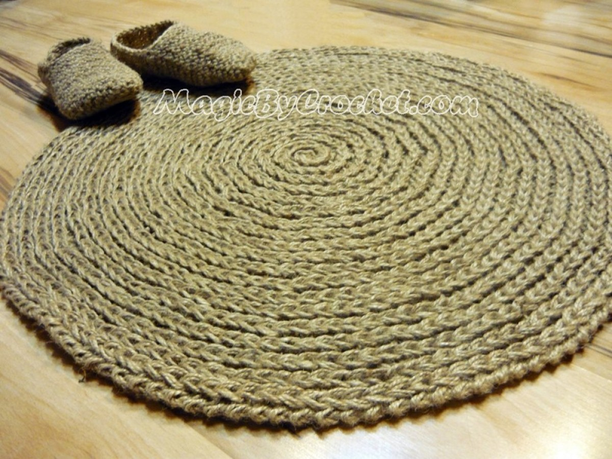cottage rug round area rug handmade natural jute rug. Black Bedroom Furniture Sets. Home Design Ideas