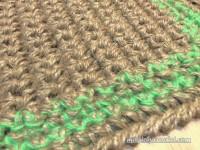 Doormat, Twine Jute doormat, Handmade welcome rug , Custom border color, no.019