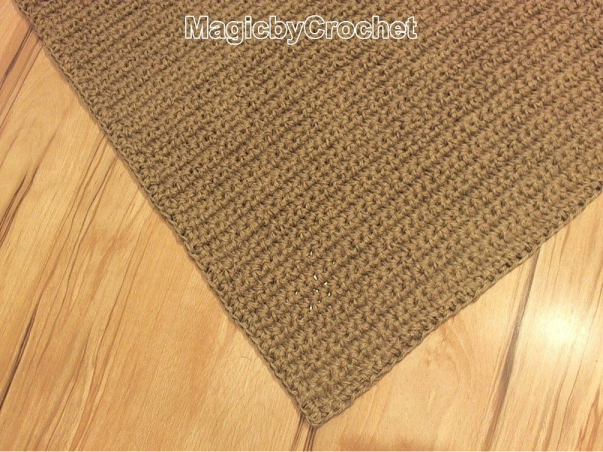 Large Doormat, Crochet Jute Door Rug, Handmade Carpet, 4 X 2 Ft, No.021