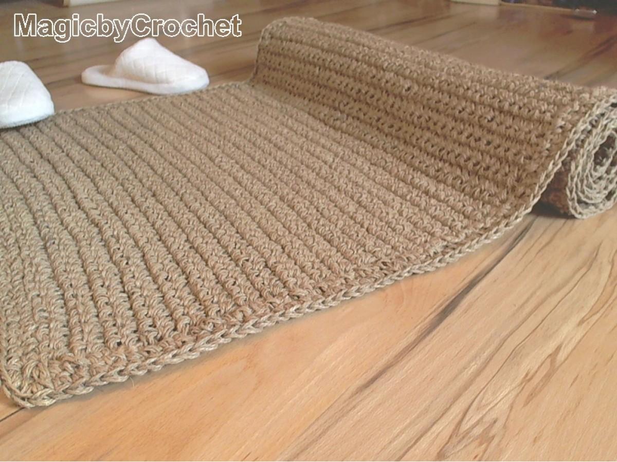 Natural rug, Fiber Rug, Crochet rug Jute Rug, Throw rug, Scandinavian home decor 120 x 90 cm, no.022