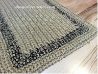 Large doormat, Simple Jute Rug, Custom color border, Crochet  door rug, no.024