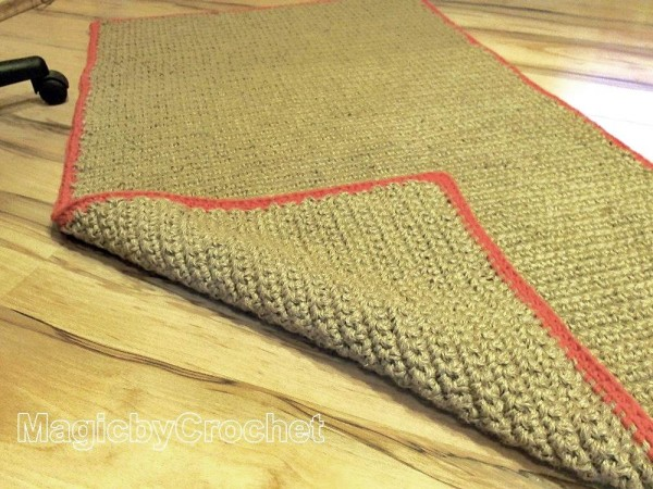 Rustic Jute Rug, 5ft (150cm), Rectangular  Jute Carpet Handmade, Throw Rug, no.025