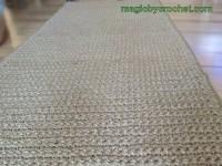 Extra Long Hallway Runner Rug, Handmade, Jute Crochet Rug, no.032