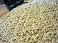 Doormat Jute Crochet Rug , Floor Mat Door Mat Handmade Welcome Rug, no.033
