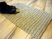 Doormat Jute Crochet Rug , Floor Mat Door Mat Handmade Welcome Rug, no.033