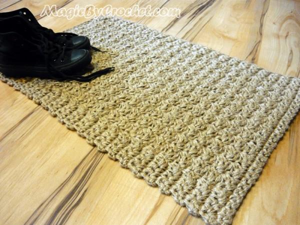 Doormat Jute Crochet Rug Floor Mat Door Mat Handmade