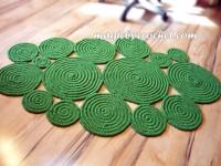 Freeform Rug, Happy Colors, Handmade floor, wall decor Braided Rug, Custom Boho Rug, no.050
