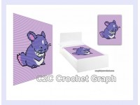 Baby Chinchilla, C2C Crochet Graph / Cross stitch, PDF Chart, No.214