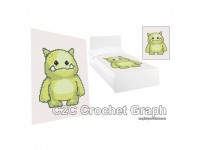 C2C crochet Graph, Monster Ogre PDF Chart, Instant Download, No.003