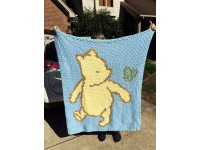 C2C crochet Graph, Classic Winnie the Pooh PDF Chart, Instant Download, No.010