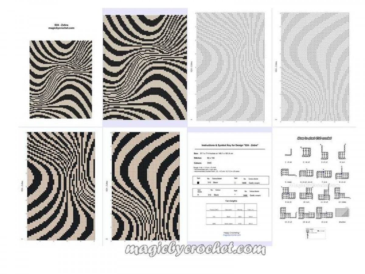 C2c crochet graph zebra pattern pdf chart instant download no c2c crochet graph zebra pattern pdf chart instant download no024 bankloansurffo Images
