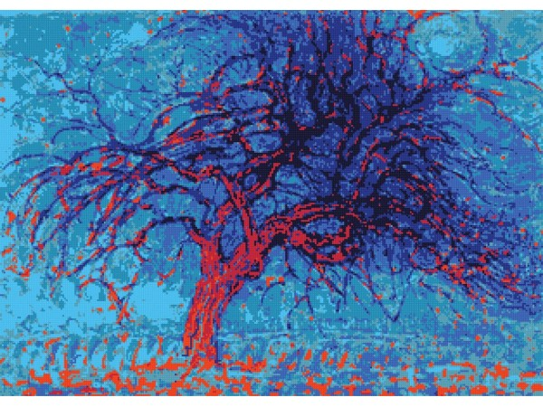 Large Cross Stitch Art, Cross Stitch Pattern, PDF Instant Download, Famous Paintings - Piet Mondrian, No. 331