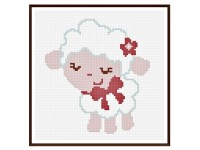 C2C crochet baby sheep blanket