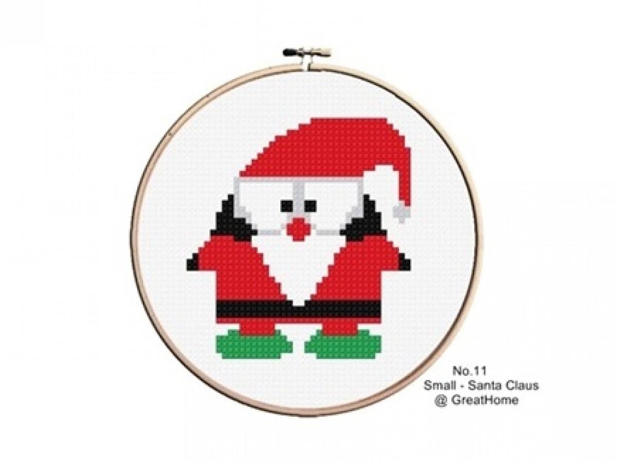 Small Santa Claus Cross Stitch Chart Pattern Pdf , No.011, Instructions