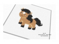 Little Pony Cross Stitch Chart Pattern, No.020, Small C2C crochet Graph