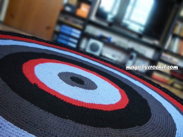 Large round rug, 8 ft Crocheted rug, Rag rug, Handmade rug, Bedroom rug, no.001