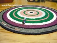 Crochet Rug, Large Round Rug, Rag Rug, Nursery Rug, Large Area Rug, 210 cm,  Handmade Rug, no.003