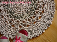 Doily Rug 25 inches Gray Round Rug Crochet Rug Bathmat Ready to SHIP, 006