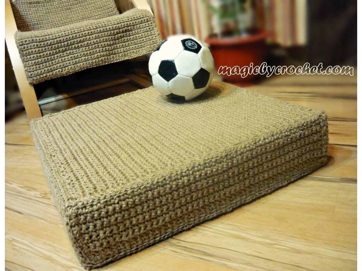 Large Jute Floor Cushion, Floor Seating Cushion, Natural Jute Floor Cushion, Jute Footstool, Jute Ottoman