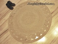 Nautical decor, Natural rug, Jute Rug, Accent Rug, Round Rug, 40 inches (100cm), no.007
