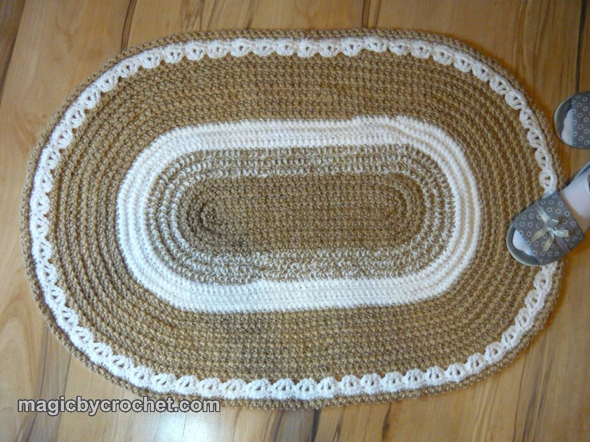 Oval Braided Rug, Oval jute rug, 2x3 ft Rug, Crochet Rug , Handmade rug, no.008