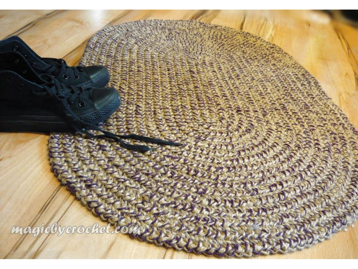 Oval Braided Rug Doormat 2x3 Ft Colors Blend Custom Color No 029