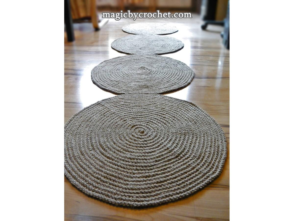 Hallway Braided Rug 8 ft rug, Jute rug, Long Runner rug, Jute runner rug, no.037
