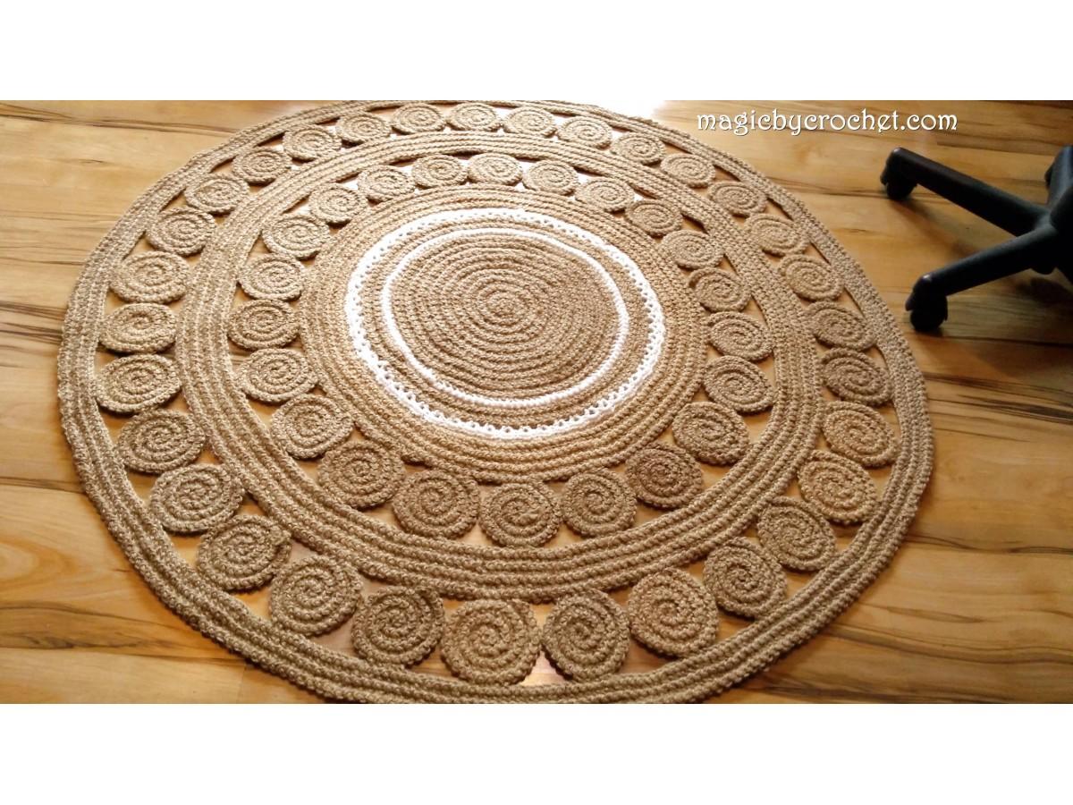 Braided Rug / Jute Rug / Rustic Rug / Area Rug / Retro style rug, no.040