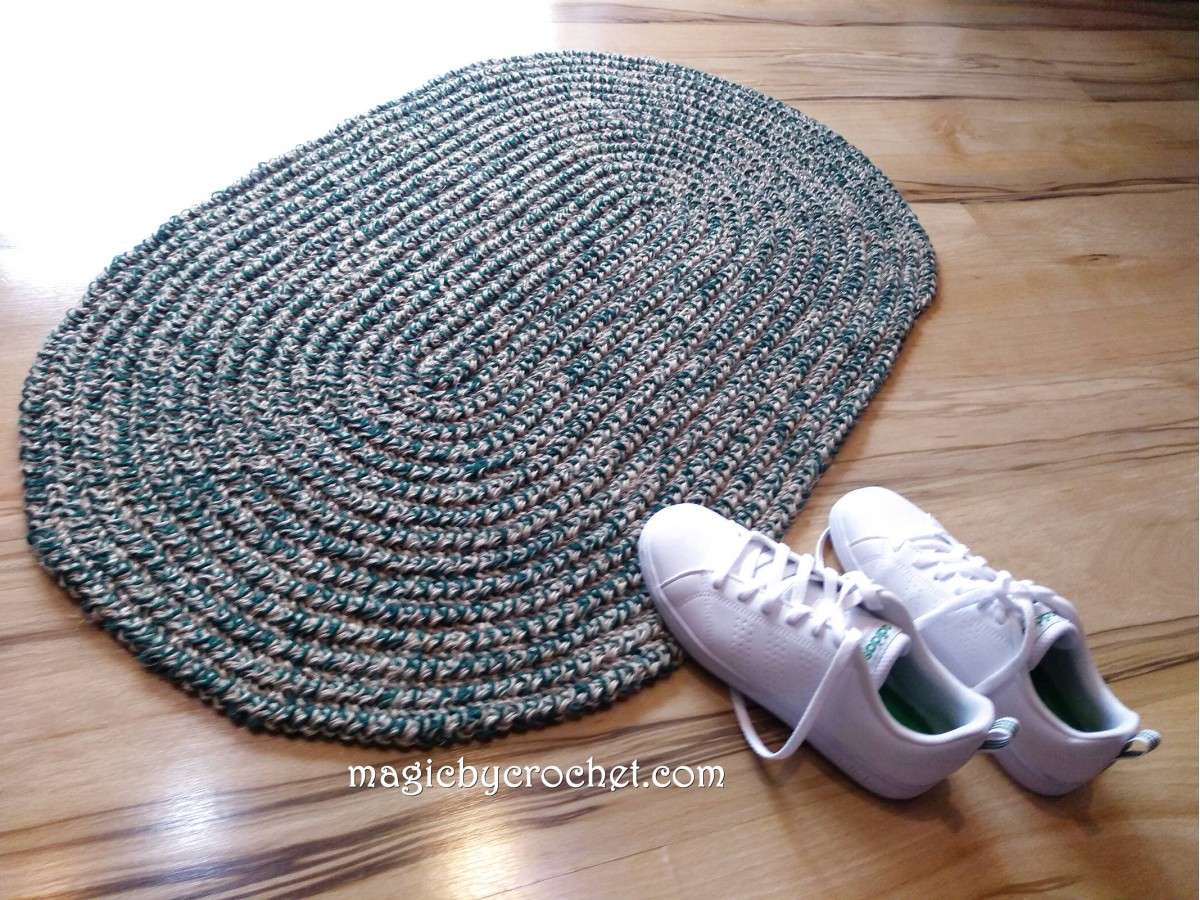 Rustic rug, Natural, Jute rug, Accent rug, Custom color, Oval rug, Braided style, no.062