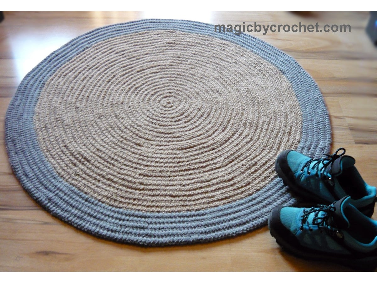 Modern Area Rug, Round rug, Jute rug, 3 ft rug, Pet friendly rug, Handmade rug, no.099