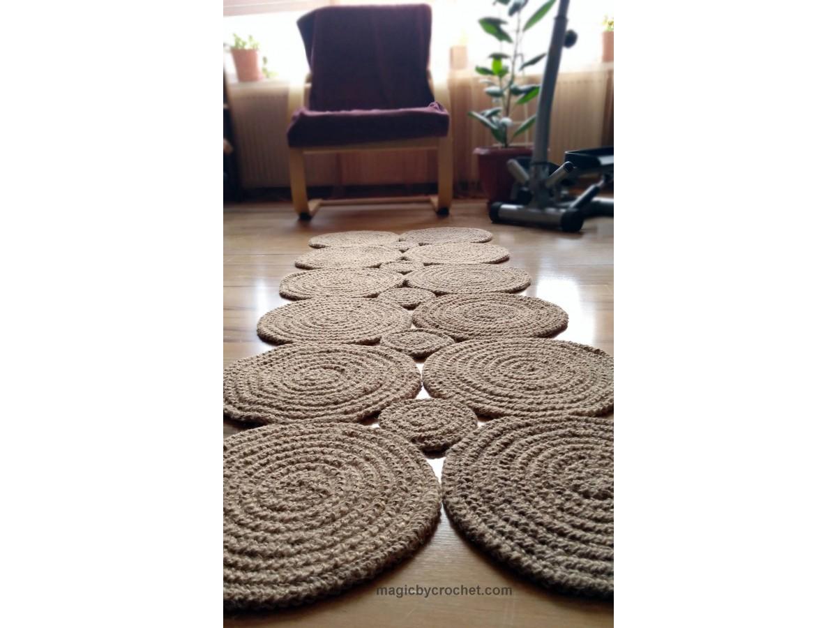 Hallway Rug, Braided Rug, Jute rug, Runner rug, Natural Rug, Nautical decor, Eco Rug, no.114