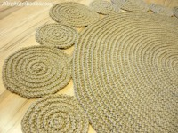 Playful rug, Area rug, Braided rug, Jute Rug, Handmade rug, 5 ft ( 152 cm ), no.001