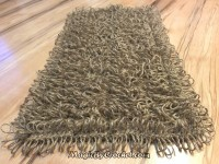 Welcome Mat, Shaggy Doormat, Crochet Door Mat, Jute rope Door Rug, Handmade, no.010