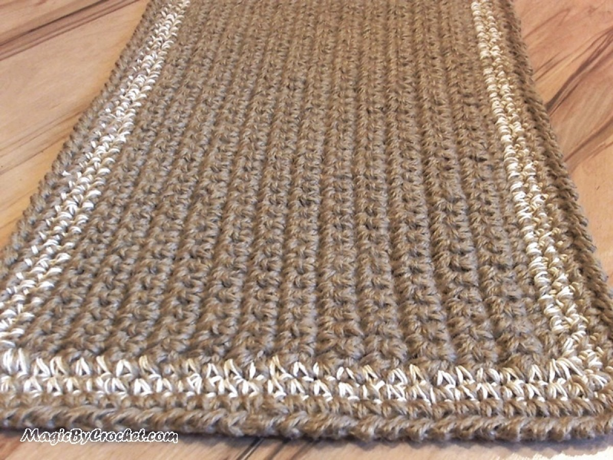 Jute Doormat, Crochet Rug, Door Rug Handmade Welcome Rug, no.011