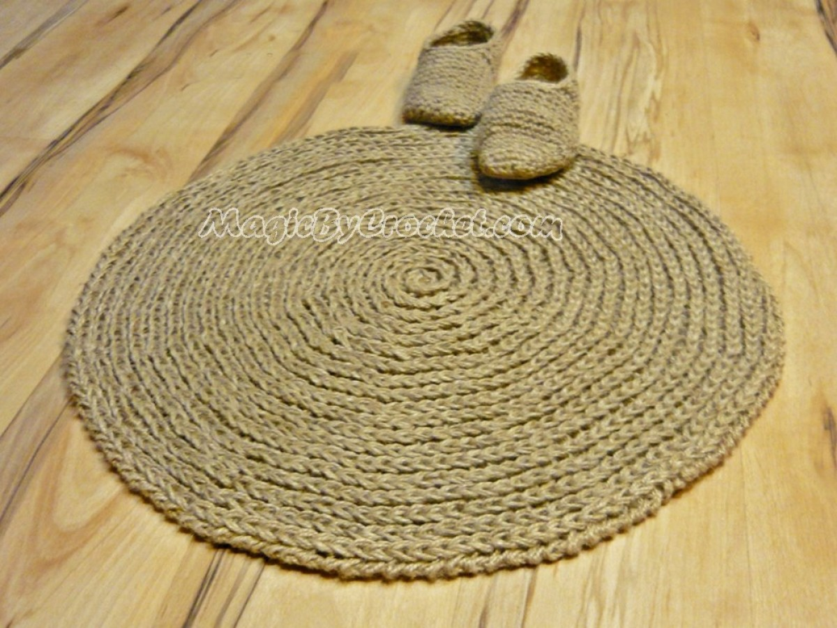 Jute Rugs Braided Handmade Natural