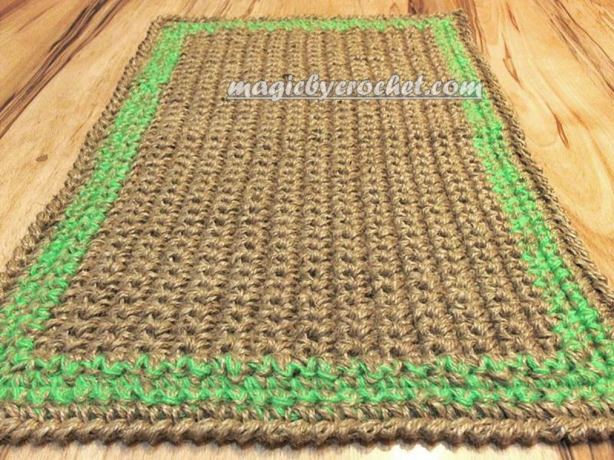 Doormat, Twine Jute doormat, Handmade welcome rug , Custom border color, no.019