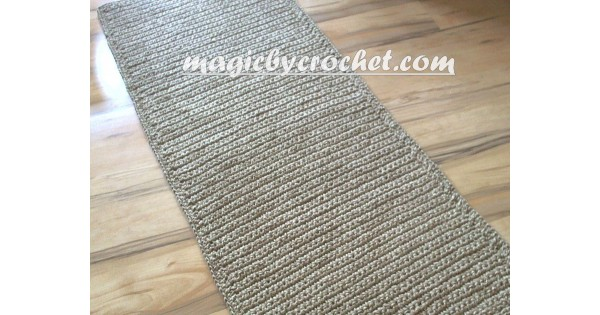 Extra Long Hallway Runner Rug Handmade Jute Crochet Rug