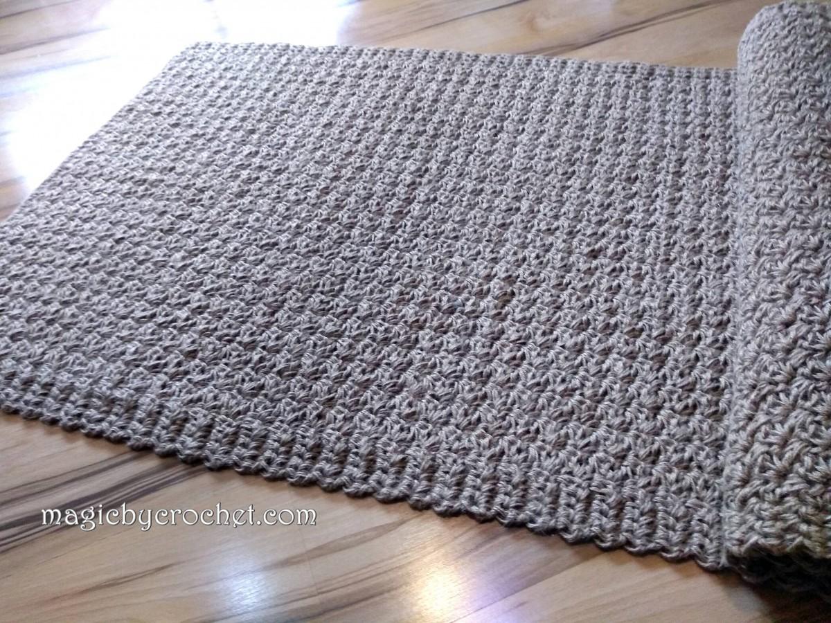 Jute rug, Hallway runner, Eco rug, 80 x 270 cm, no.039