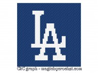 LA Dodgers blanket, C2C blanket, Baby size, C2C crochet graph, PDF download, no.440