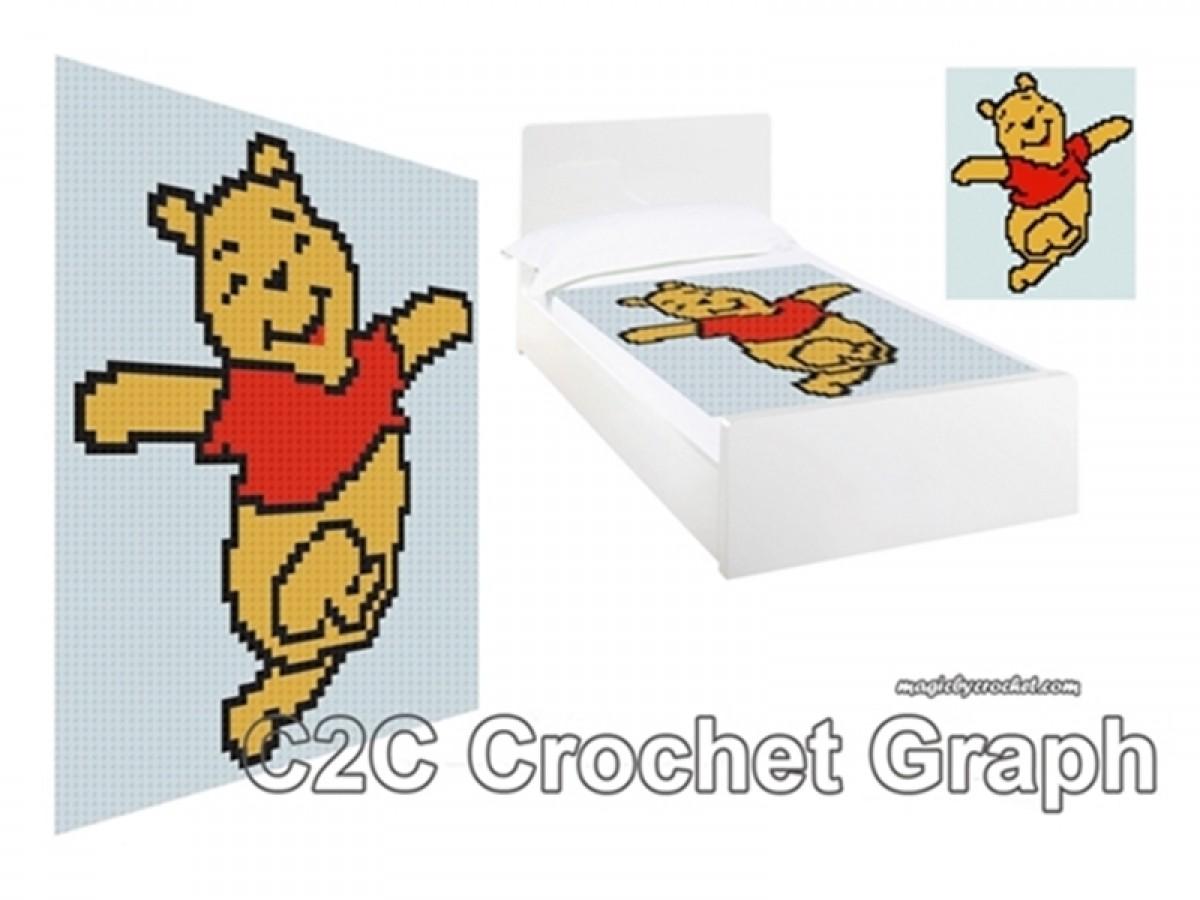 Winnie The Pooh Pdf Chart C2c Crochet Graph Instant