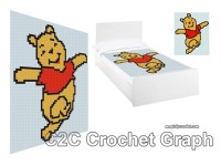 Winnie the Pooh PDF Chart, C2C crochet Graph, Instant Download, No.005