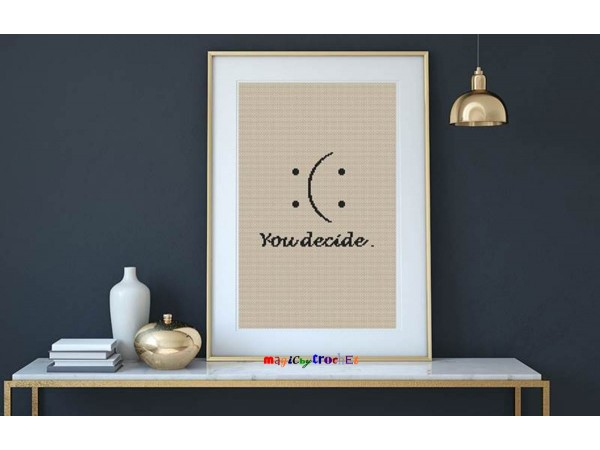 Motivational cross stitch, PDF download, Modern, Poster Cross stitch pattern, No.058