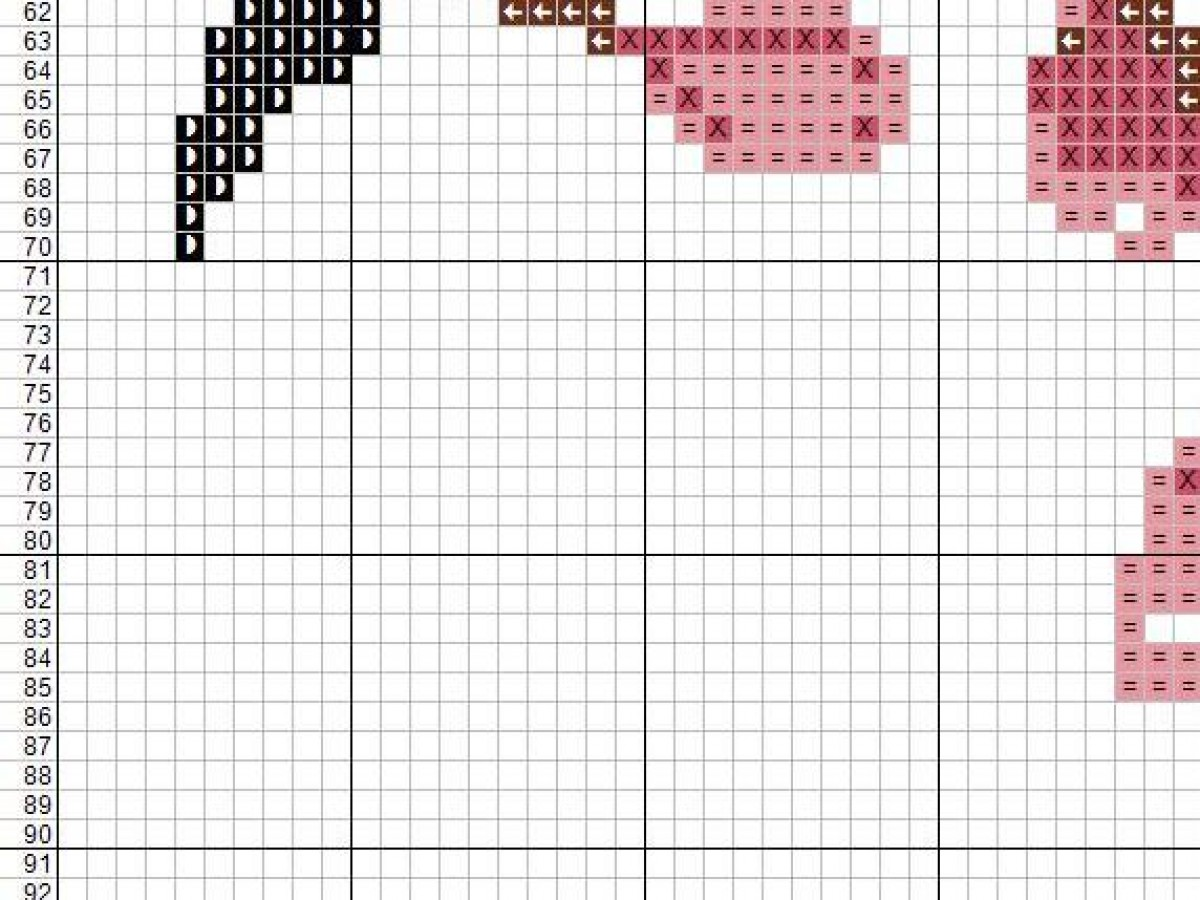 Large Cherry Blossom Cross Stitch Chart Pattern, PDF