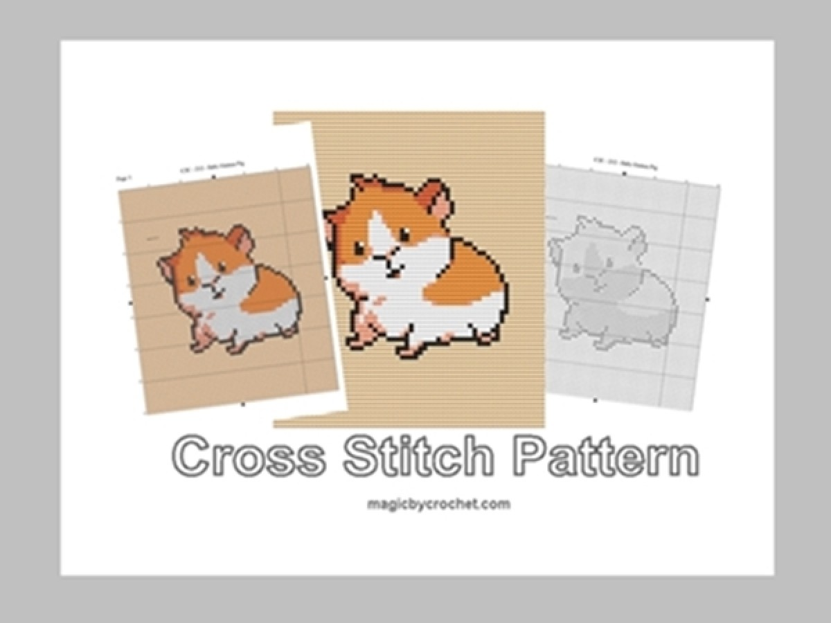 Baby Guinea Pig, Cross Stitch Pattern, Cute Baby Animnal, PDF Chart, No.212