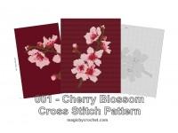 Cherry Blossom Graph, Cross stitch pattern, Instant Download, No.001